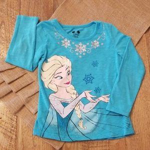 Frozen Elsa glitter shirt, great condition